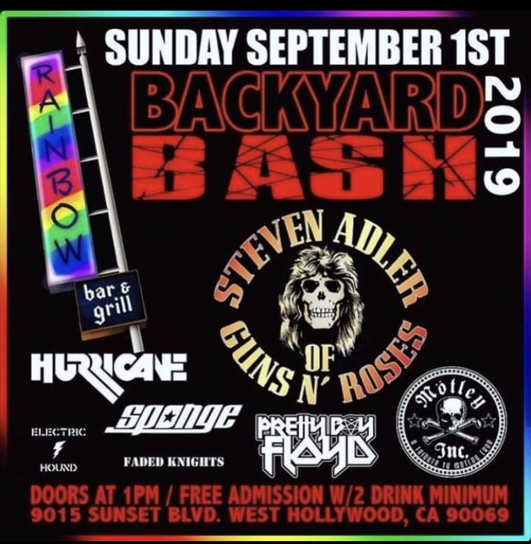 Hurricane to perform at the Backyard Bash, Sunday September 1st, 2019